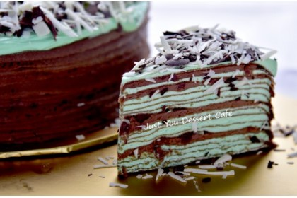 Chocolate Mint Mille Crepe